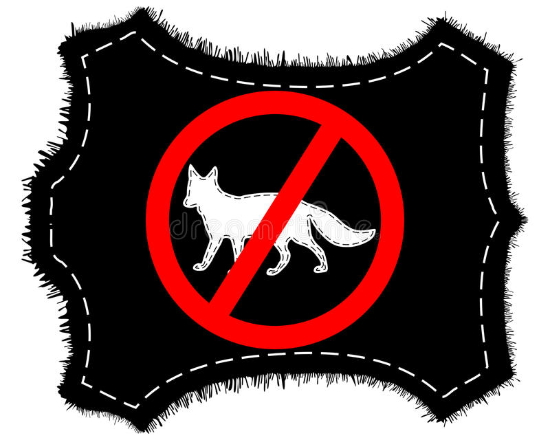 Download Prohibition sign fox fur stock vector. Illustration of silhouette - 21025563