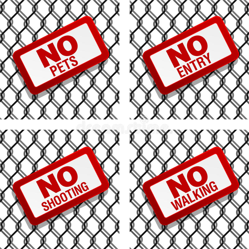 Download Prohibition signs stock vector. Illustration of backdrop - 23148519