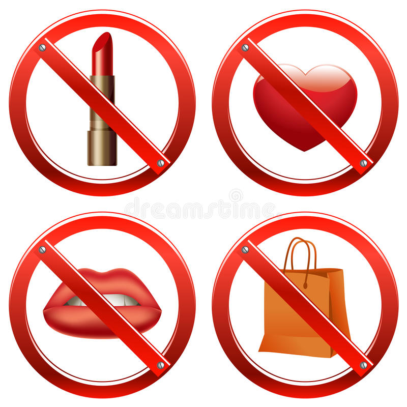 Download Prohibition Signs - Set One Stock Vector - Image: 12562904