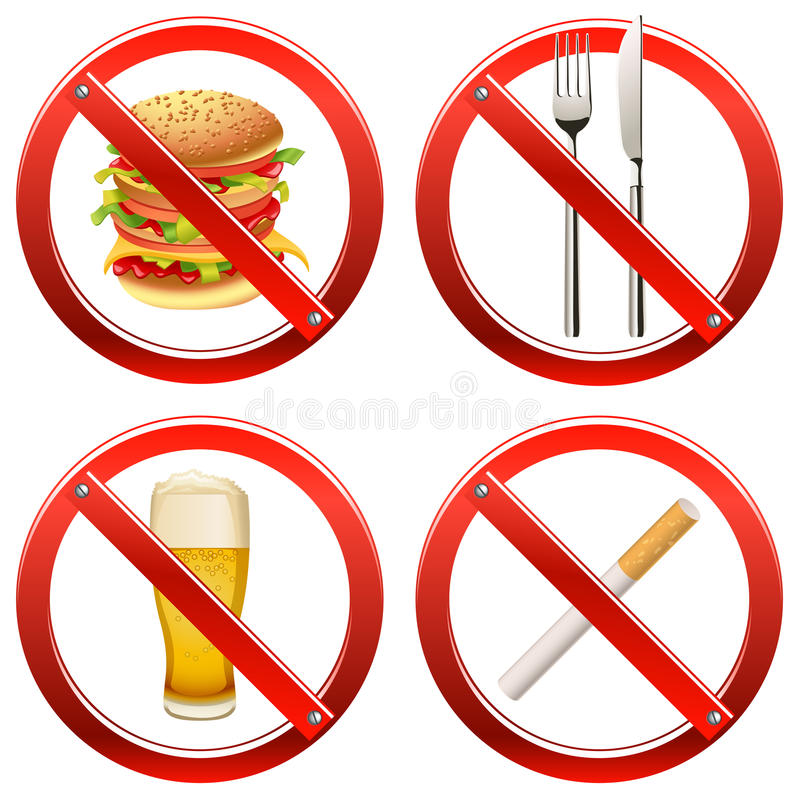 Prohibition Signs - Set Two royalty free stock images