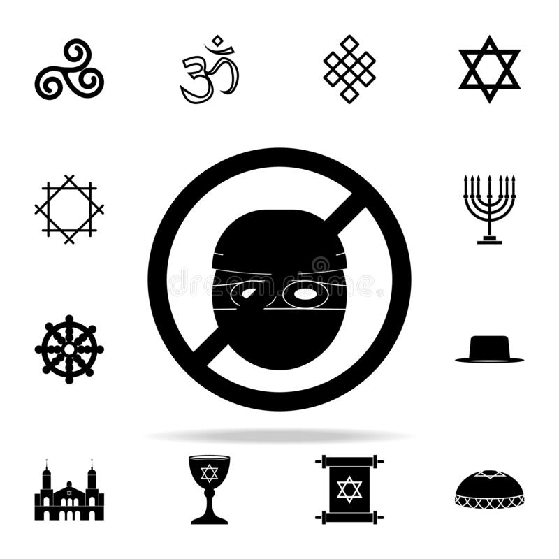 Prohibition of theft icon. Religion icons universal set for web and mobile. On white background stock illustration