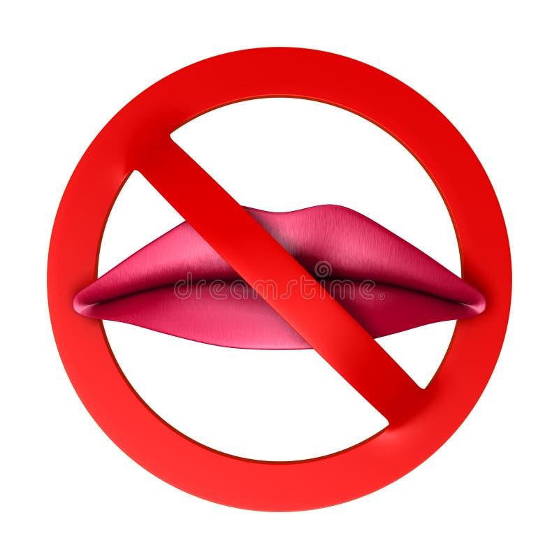 Proibição ilustração stock
