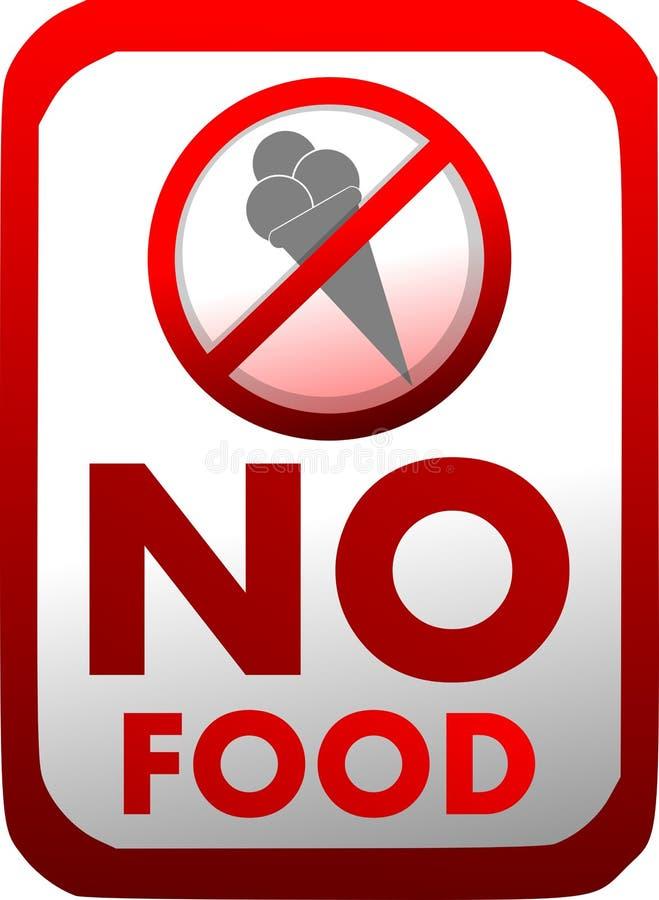 Proibição da introdução de alimento no vermelho isolado ilustração stock