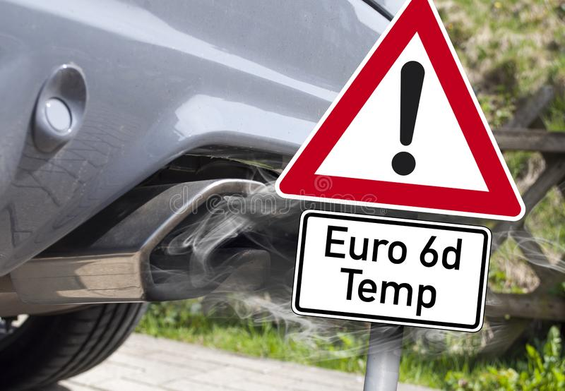 Proibição diesel e manupilation diesel em Alemanha imagem de stock royalty free