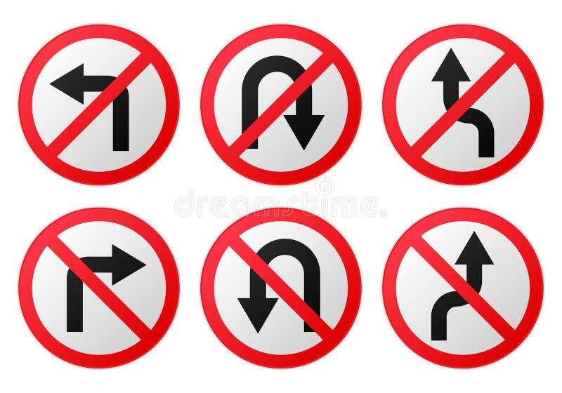 Proibição do sinal de estrada do vetor lustrosa ilustração do vetor