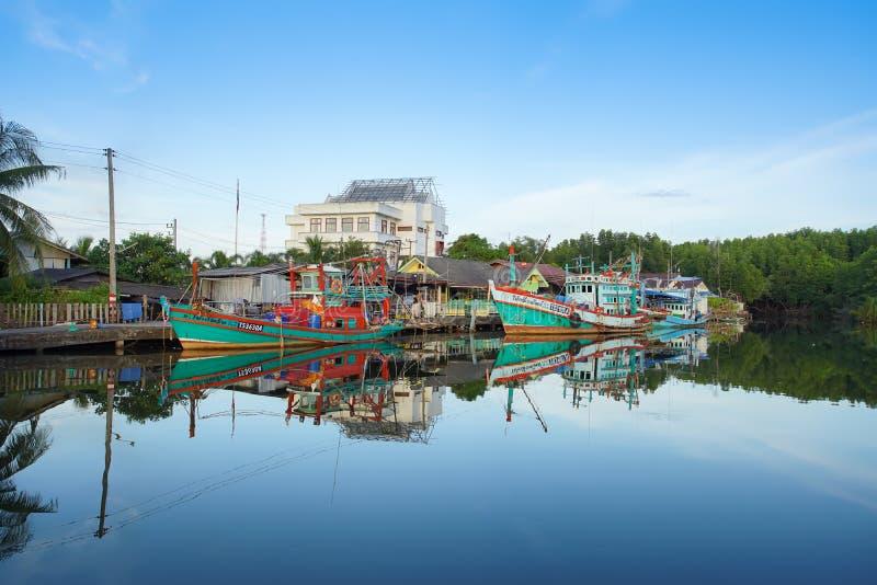 Proibição Nam Chieo da aldeia piscatória na província de Trat, Tailândia fotos de stock royalty free