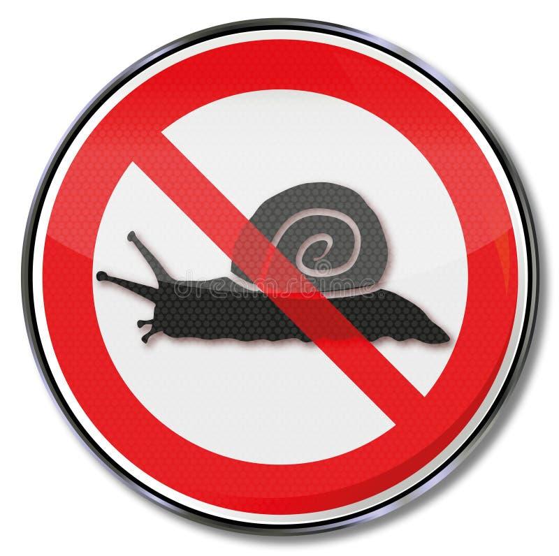Proibição para caracóis ilustração do vetor