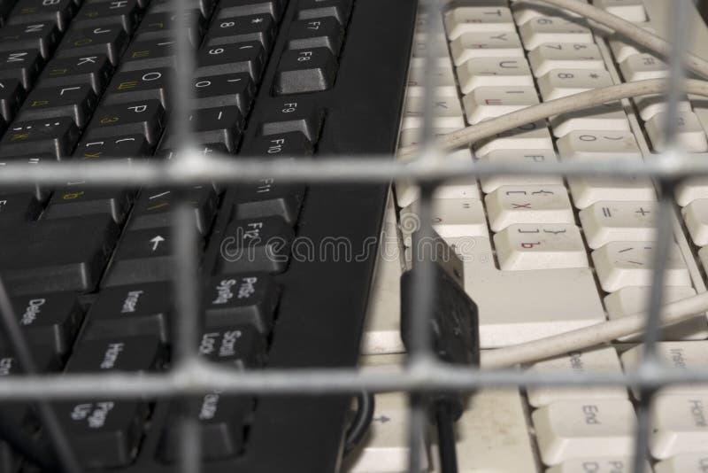 Proibições e limitações no Internet foto de stock