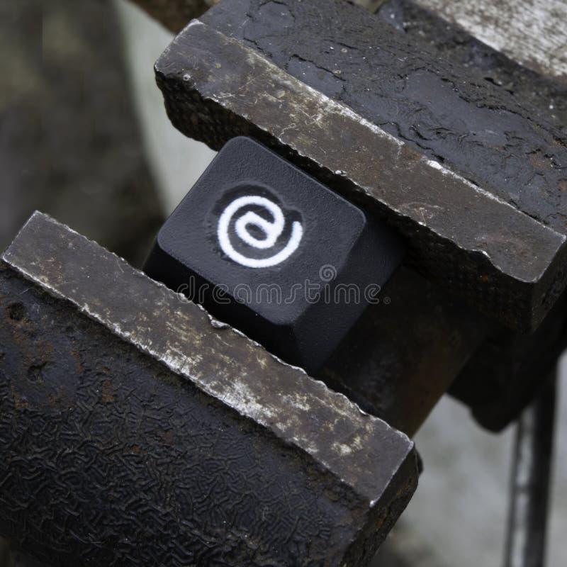 Proibições, limitações e censura no Internet imagens de stock