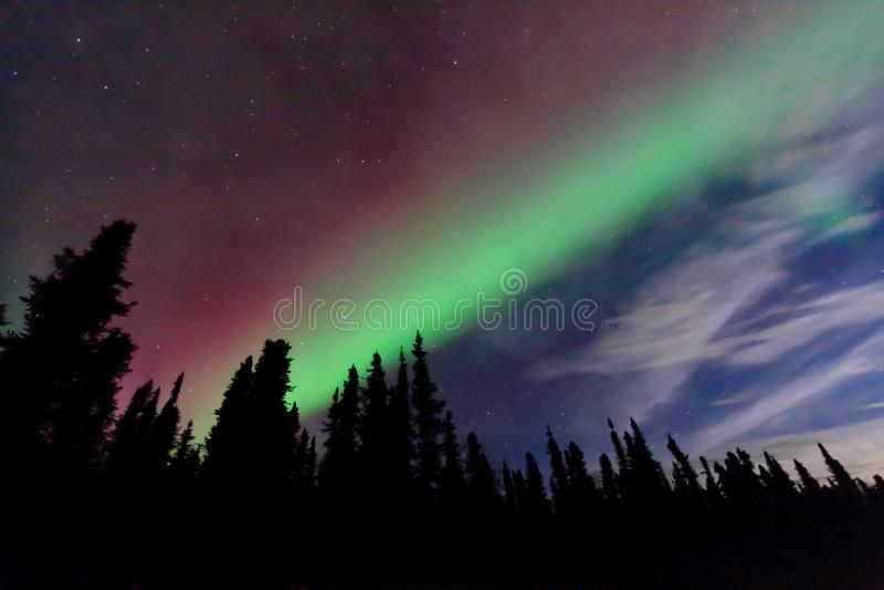 Projeção a cores dupla, perto de Fairbanks, Alaska, EUA imagens de stock