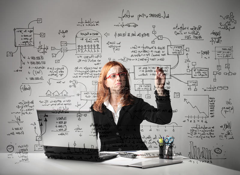 Download Project stock photo. Image of statistics, note, write - 17343050