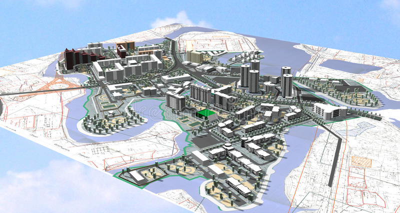 Project area of city vector illustration
