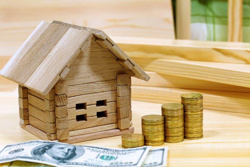 Project comfortabel huis Geld voor het gebouw en de details van Ne royalty-vrije stock foto