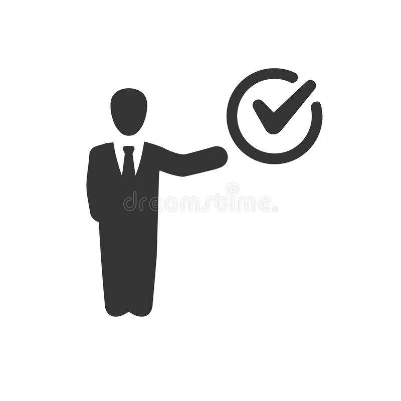 Project Done Icon. Beautiful, Meticulously Designed Project Done Icon royalty free illustration
