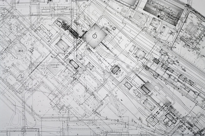 Project drawings background. stock photos