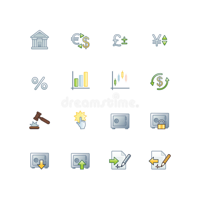 Project finance icons royalty free illustration
