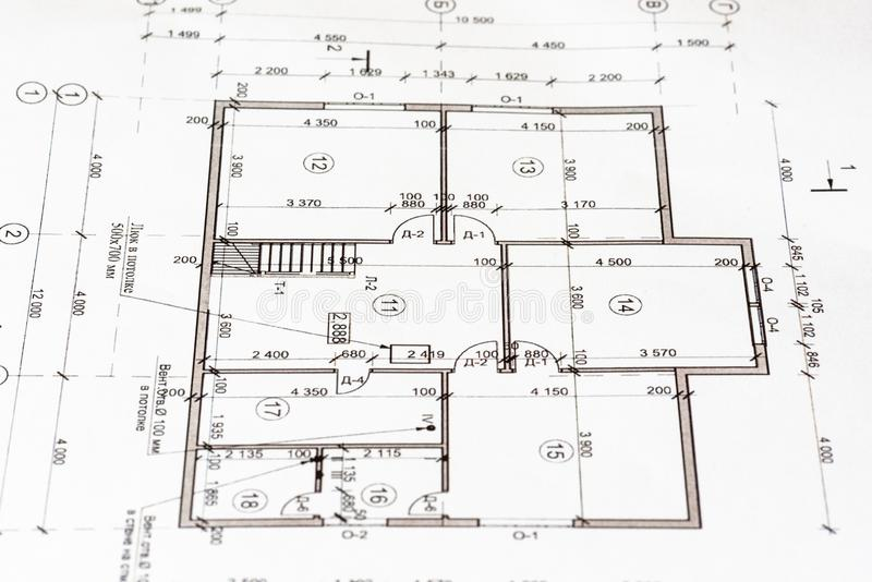 Project a house as a background. The idea of building a house. Project a house as a background. The idea of building a house stock images