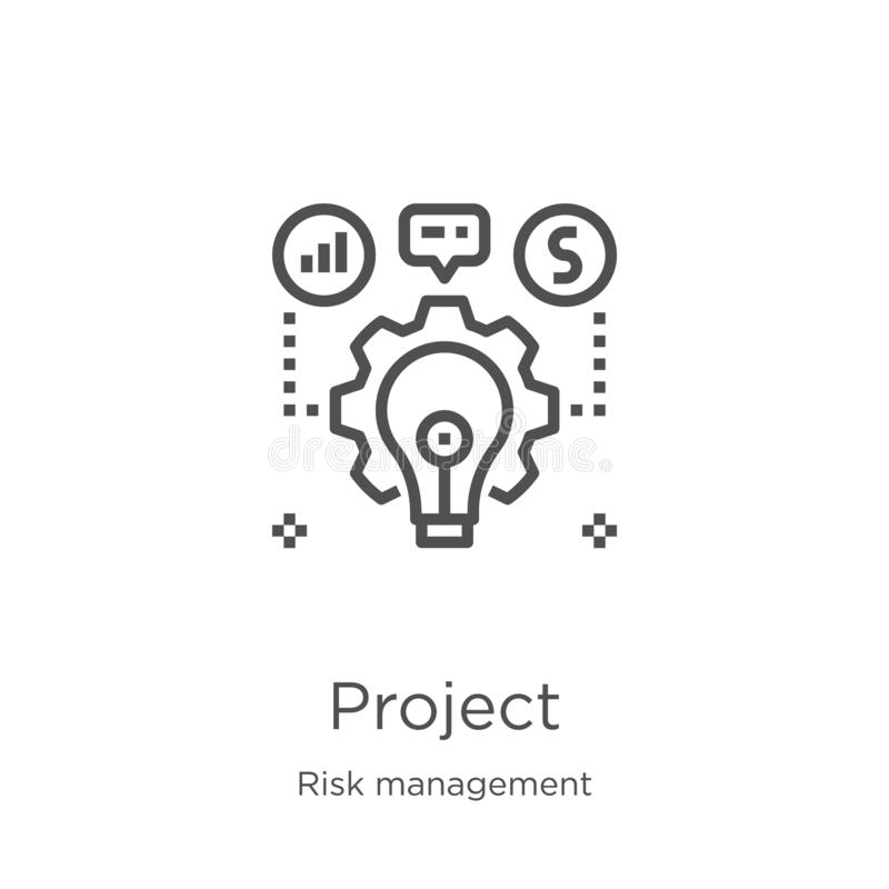 project icon vector from risk management collection. Thin line project outline icon vector illustration. Outline, thin line vector illustration
