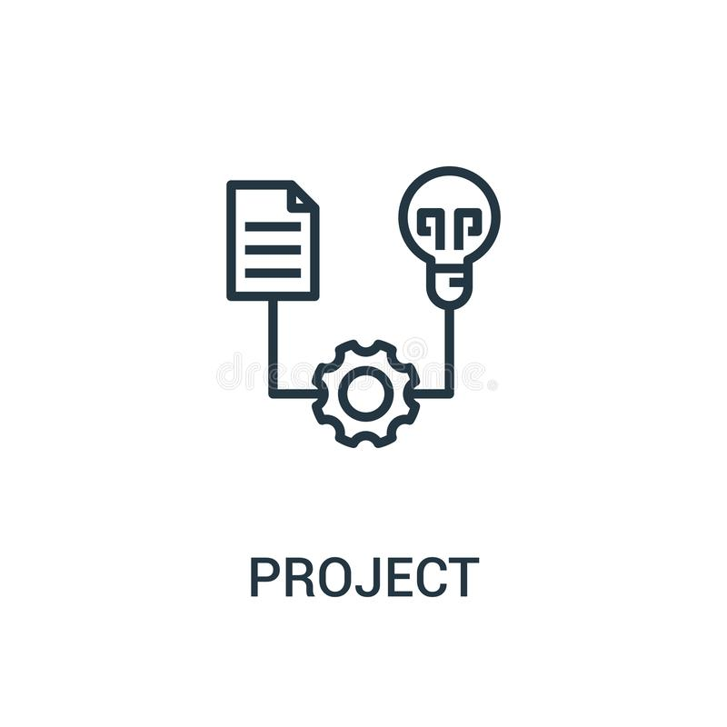 project icon vector from seo collection. Thin line project outline icon vector illustration. Linear symbol for use on web and vector illustration
