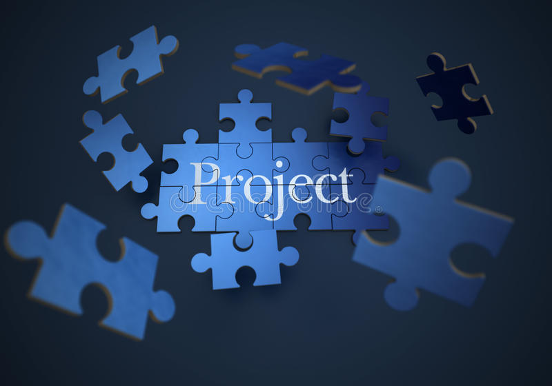 Project jigsaw puzzle royalty free illustration