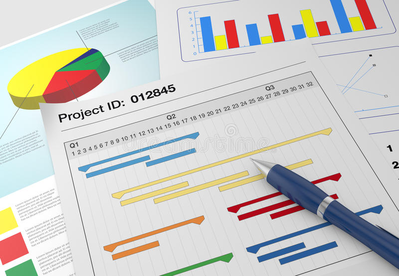Download Project management stock illustration. Image of black - 29569613