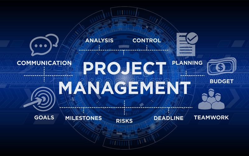 Project Management Background with Icons vector illustration