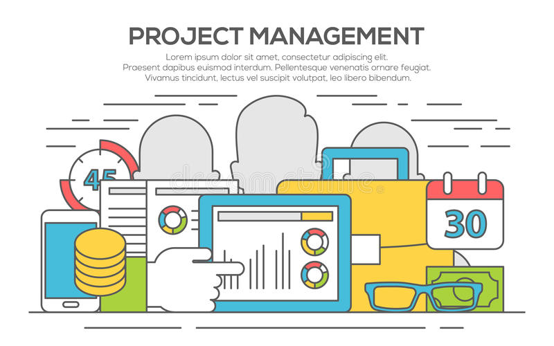 Project management business concept. royalty free illustration