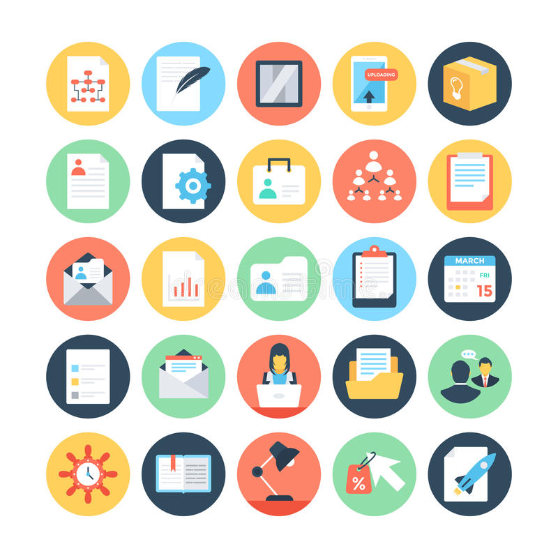 Project Management Colored Vector Icons 2. Here is an awesome set of Project Management Vector Icons that i am sure you will find very useful. For the Project royalty free illustration