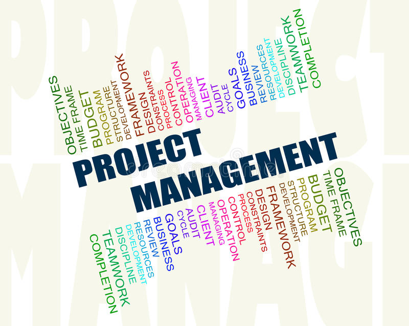 Project management concept vector illustration