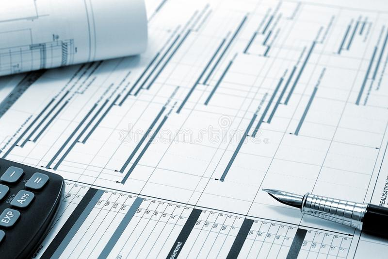 Project Management - Construction Project Planning Royalty Free Stock Image