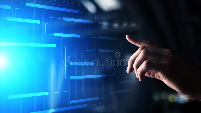 Time Management And Technology: Project Management Team Diagram Stock Images