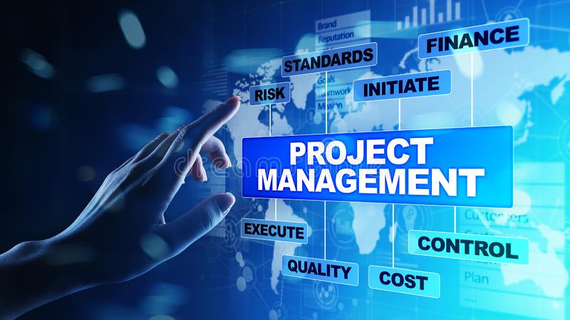 Time Management And Technology: Project Management Diagram Stock Images