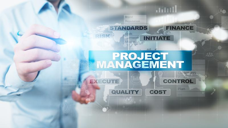 Time Management And Technology: Time Management Diagram Stock Images