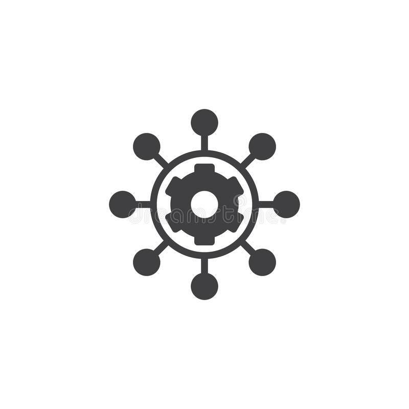 Project management vector icon royalty free illustration