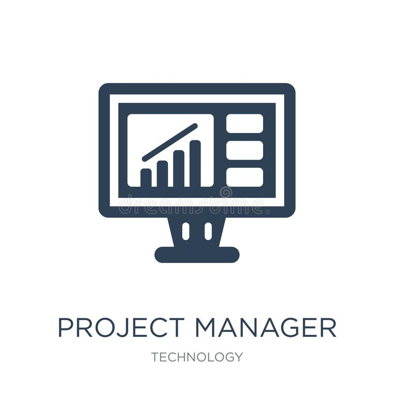 project manager icon in trendy design style. project manager icon isolated on white background. project manager vector icon simple vector illustration
