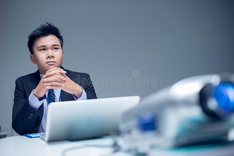 Project manager at work royalty free stock photos
