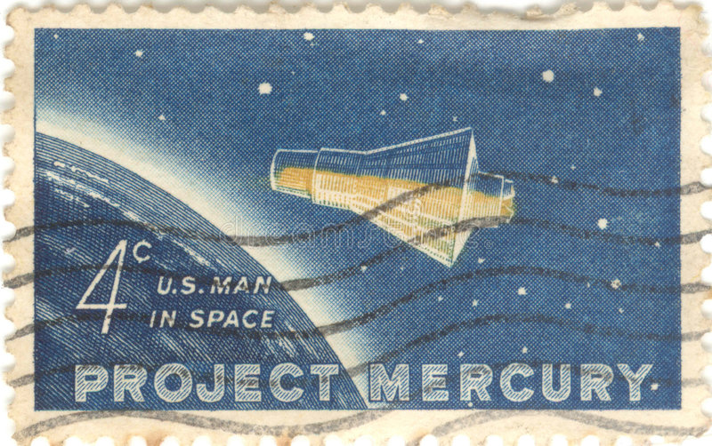 Download Project Mercury Stamp stock photo. Image of mercury, nasa - 2440648