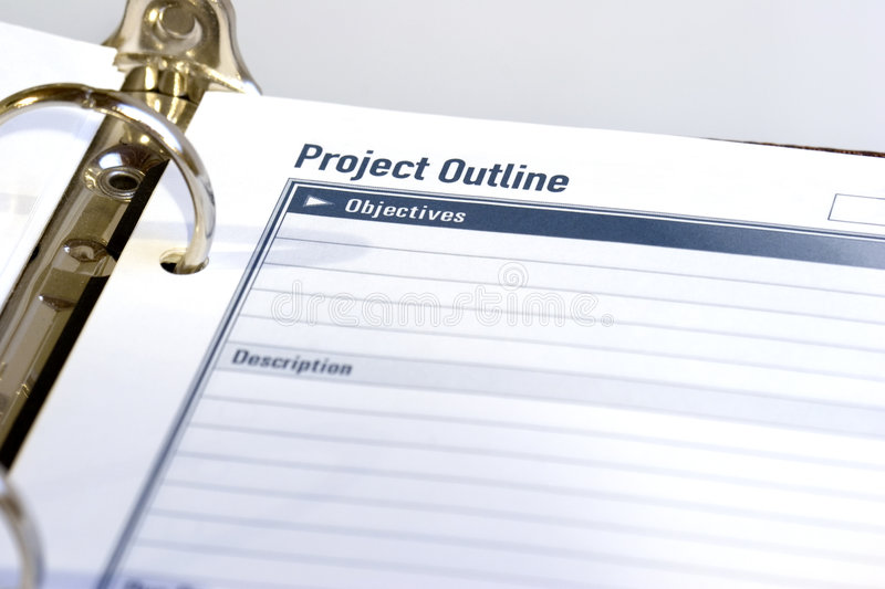 Project Outline stock photo