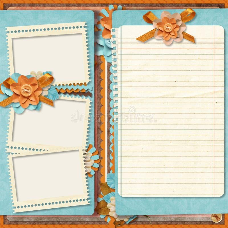 Retro Family Album 365 Project  Scrapbooking Templates  Stock Illustration