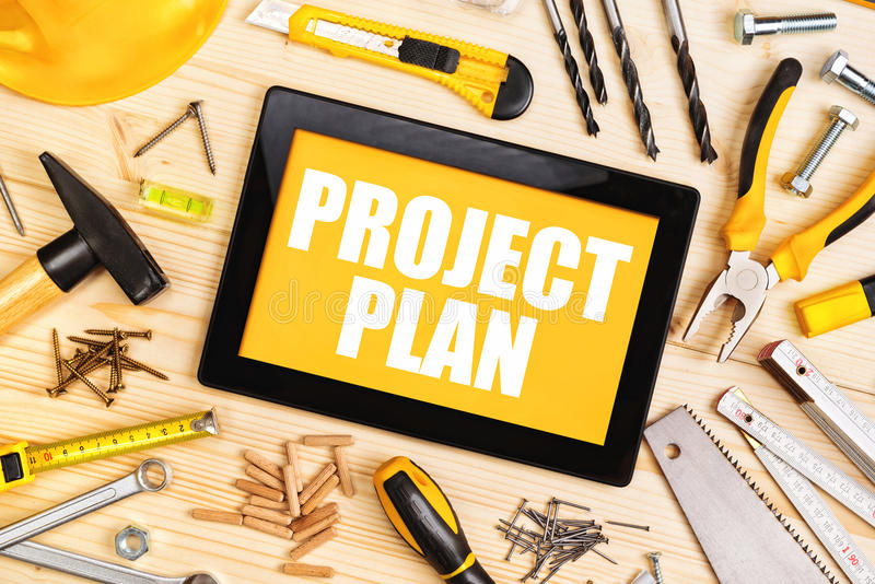 Project Plan For Home Redecoration stock photography