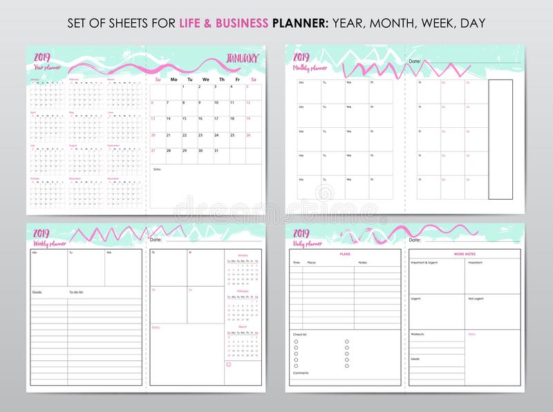 Project planner template vector illustration
