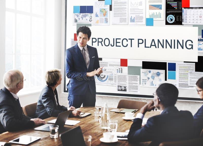 Project Planningsinformatie die Ideeënconcept verklaren royalty-vrije stock foto