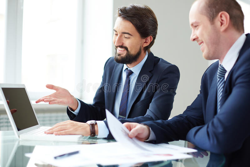 Project presentation stock photography