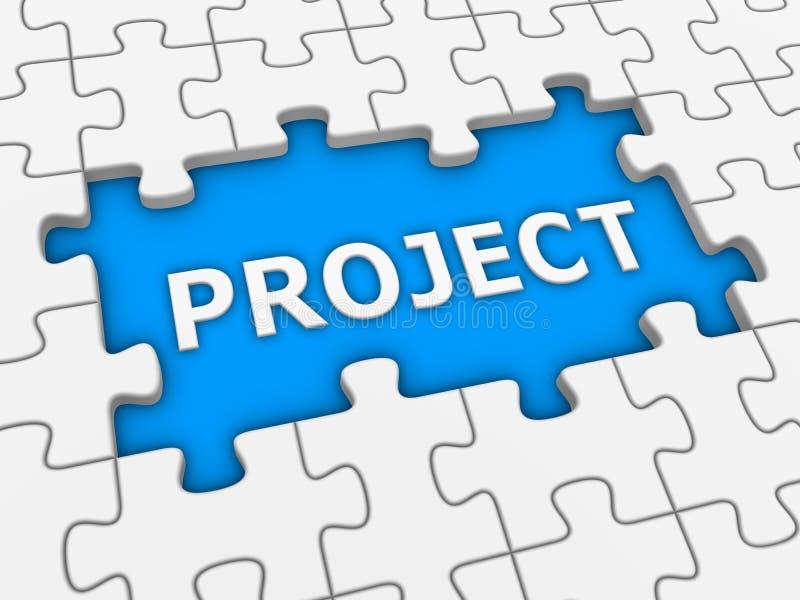 Project - raadsel met wit woord royalty-vrije illustratie