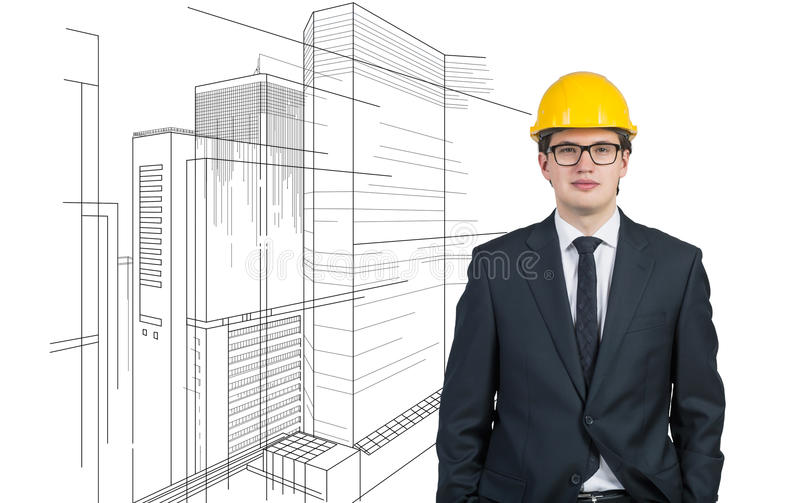 Project skyscraper royalty free stock images