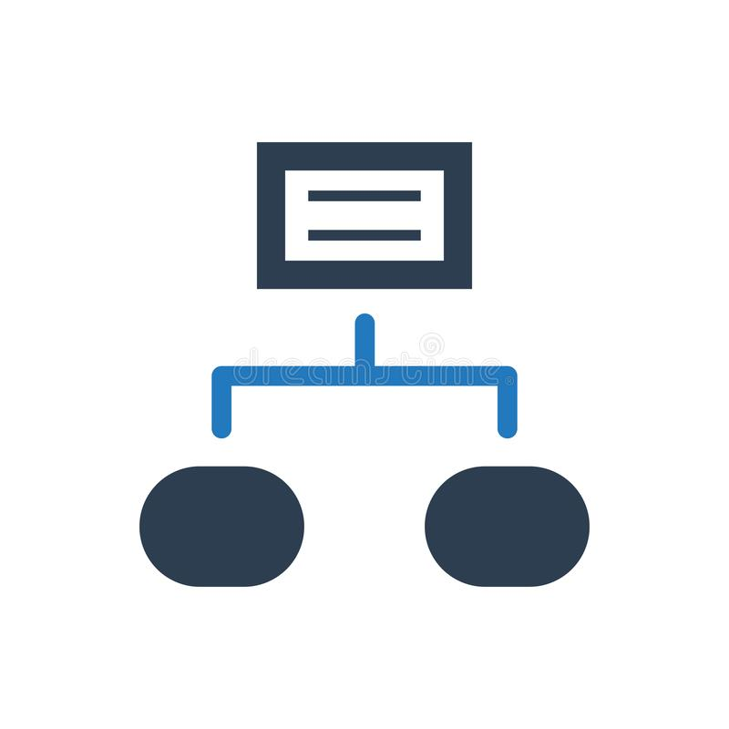 Project structure icon royalty free illustration