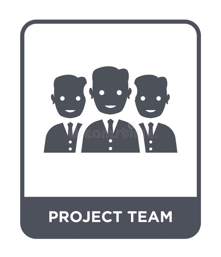 Project team icon in trendy design style. project team icon isolated on white background. project team vector icon simple and. Modern flat symbol for web site vector illustration
