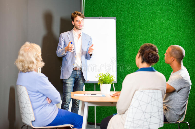 Project team presentation royalty free stock photography