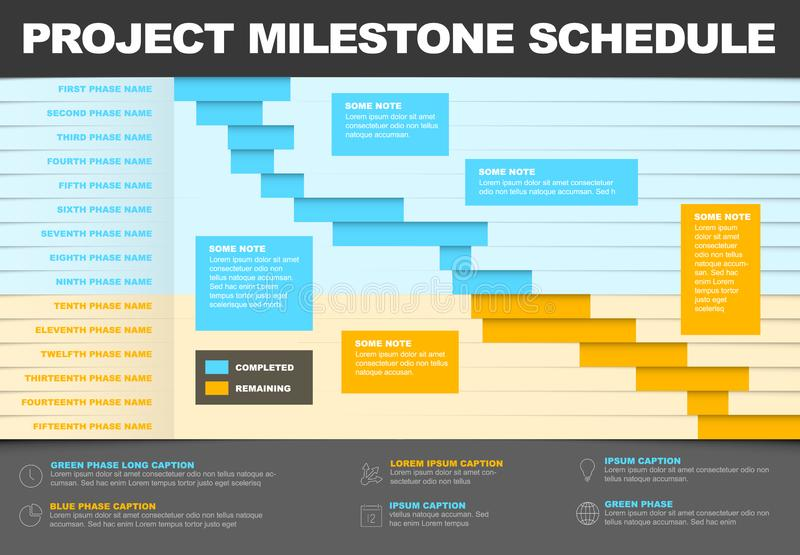 Project timeline gantt graph template royalty free illustration