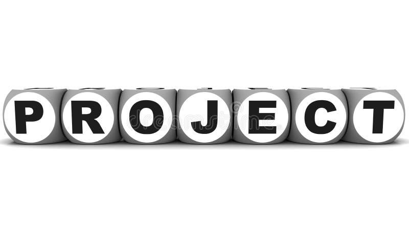 Projektera stock illustrationer